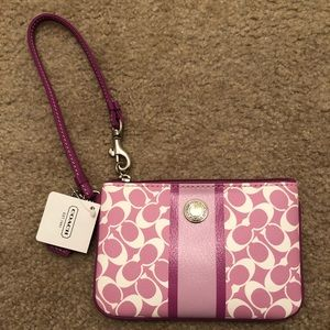 Coach Signature Rose Wristlet NWT